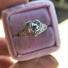 .71ct Vintage Old European Cut Diamond Heart Motif Ring, GIA J VS 20