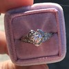 .71ct Vintage Old European Cut Diamond Heart Motif Ring, GIA J VS 6