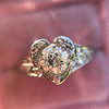 .71ct Vintage Old European Cut Diamond Heart Motif Ring, GIA J VS 14
