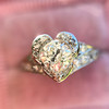 .71ct Vintage Old European Cut Diamond Heart Motif Ring, GIA J VS 4