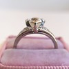 .71ct Vintage Old European Cut Diamond Heart Motif Ring, GIA J VS 12