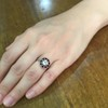 .72ct Antique Old European Cut Diamond Coral & Onyx Halo Ring 6