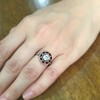 .72ct Antique Old European Cut Diamond Coral & Onyx Halo Ring 12