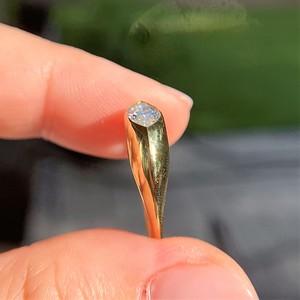 .72ct Vintage Marquise Cut Diamond Bezel Ring