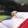 0.72ctw Retro Art Diamond and Burmese Ruby Dome Ring 11