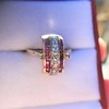 0.72ctw Retro Art Diamond and Burmese Ruby Dome Ring 9
