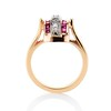 0.72ctw Retro Art Diamond and Burmese Ruby Dome Ring 3