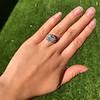 7.35ct Deco Asscher Cut Diamond Ring GIA K VS 15