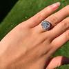 7.35ct Deco Asscher Cut Diamond Ring GIA K VS 18