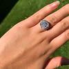 7.35ct Deco Asscher Cut Diamond Ring GIA K VS 16