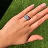 7.35ct Deco Asscher Cut Diamond Ring GIA K VS 21