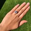 7.35ct Deco Asscher Cut Diamond Ring GIA K VS 13