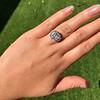 7.35ct Deco Asscher Cut Diamond Ring GIA K VS 25