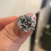7.35ct Deco Asscher Cut Diamond Ring GIA K VS 10