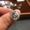7.35ct Deco Asscher Cut Diamond Ring GIA K VS 1