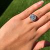 7.35ct Deco Asscher Cut Diamond Ring GIA K VS 17