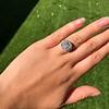 7.35ct Deco Asscher Cut Diamond Ring GIA K VS 19