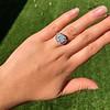 7.35ct Deco Asscher Cut Diamond Ring GIA K VS 22