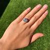 7.35ct Deco Asscher Cut Diamond Ring GIA K VS 14