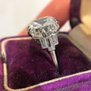 7.35ct Deco Asscher Cut Diamond Ring GIA K VS 3