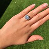 7.35ct Deco Asscher Cut Diamond Ring GIA K VS 24
