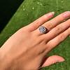 7.35ct Deco Asscher Cut Diamond Ring GIA K VS 20