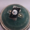 .74ct Art Deco Diamond and Onyx Ring 16