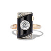 .74ct Art Deco Diamond and Onyx Ring 0