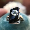 .74ct Art Deco Diamond and Onyx Ring 15