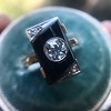 .74ct Art Deco Diamond and Onyx Ring 17