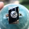 .74ct Art Deco Diamond and Onyx Ring 6