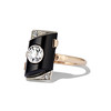 .74ct Art Deco Diamond and Onyx Ring 1