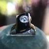 .74ct Art Deco Diamond and Onyx Ring 7