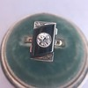 .74ct Art Deco Diamond and Onyx Ring 18