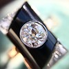 .74ct Art Deco Diamond and Onyx Ring 9