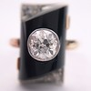 .74ct Art Deco Diamond and Onyx Ring 11