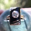 .74ct Art Deco Diamond and Onyx Ring 8