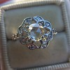 .77ct Rose Cut Openwork Halo Ring