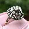 .78ctw Victorian Rose Cut Cluster Ring 7
