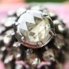 .78ctw Victorian Rose Cut Cluster Ring 12