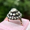 .78ctw Victorian Rose Cut Cluster Ring 11