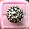 .78ctw Victorian Rose Cut Cluster Ring 16