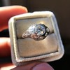 .80ct Vintage Old European Cut Diamond Dome Ring 15