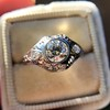 .80ct Vintage Old European Cut Diamond Dome Ring 18