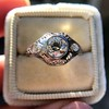 .80ct Vintage Old European Cut Diamond Dome Ring 7