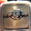 .80ct Vintage Old European Cut Diamond Dome Ring 10