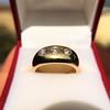 0.82ctw Old European Cut Diamond Gypsy Ring 10