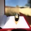 0.82ctw Old European Cut Diamond Gypsy Ring 7