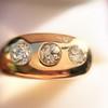 0.82ctw Old European Cut Diamond Gypsy Ring 8