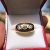 0.82ctw Old European Cut Diamond Gypsy Ring 22